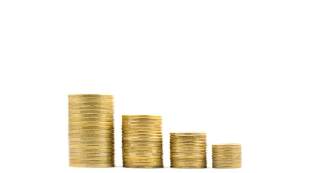 Monedas en columnas, aislar