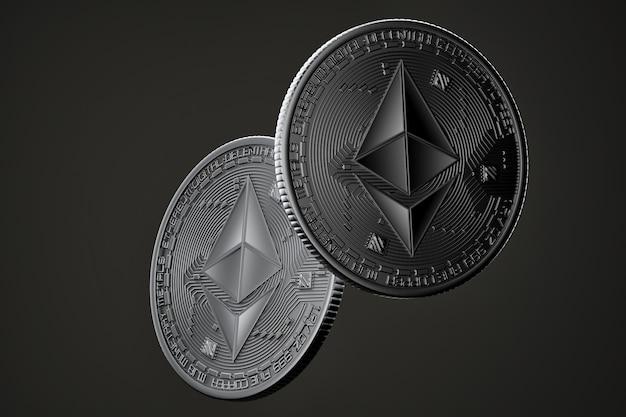 Monedas de ethereum oscuro