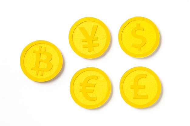 Monedas internacionales de monedas de oro del mundo.