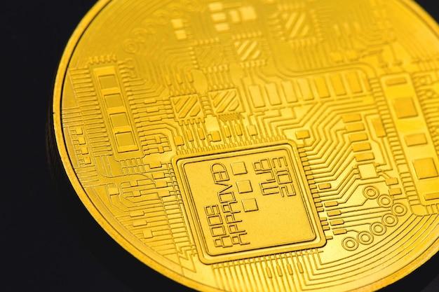 Monedas de oro de criptomonedas: bitcoin, ethereum, litecoin