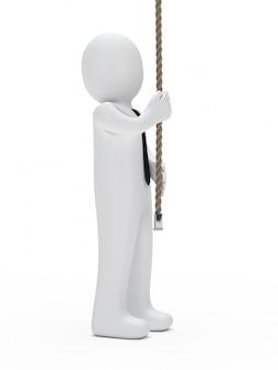 Monigote con un palo