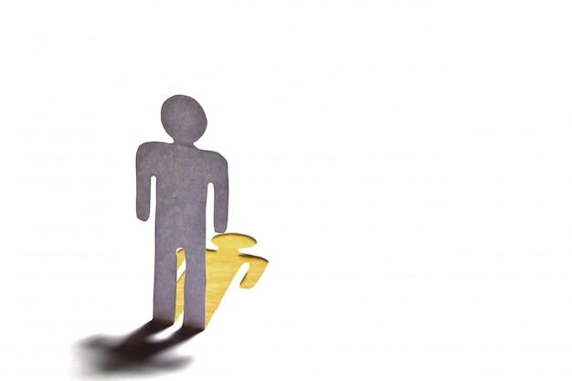 Monigote con sombra dorada