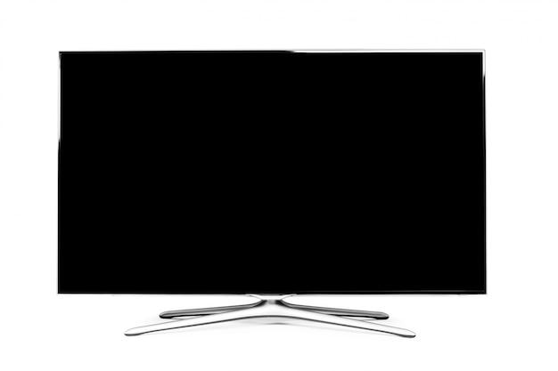 Monitor 4k aislado en blanco