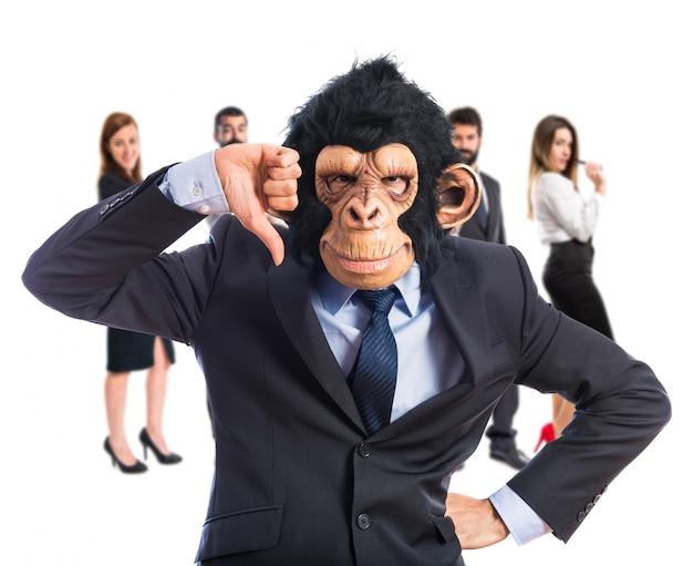 Mono, hombre, malo, señal