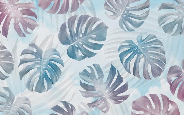 Monstera deja de patrones sin fisuras fondo diseño tropical verano