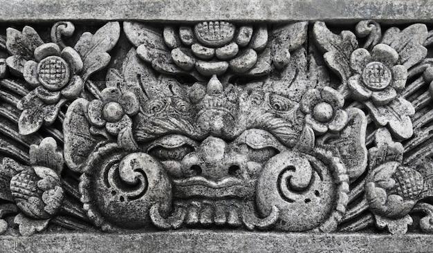 Monstruo guerrero tradicional balinesa