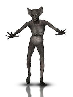 Monstruo malvado de halloween 3d