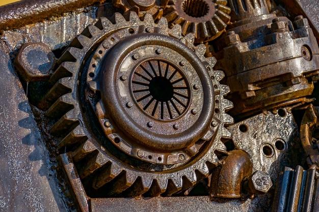 Montaje de engranaje oxidado