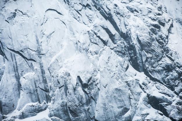 Montaña de la nieve de la textura del primer