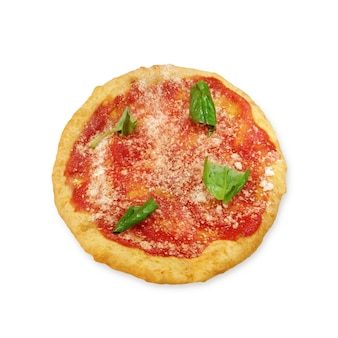 Montanara, pizza frita con tomate, parmesano y mozzarella di bufala, aperitivo tradicional en nápoles, campania, italia