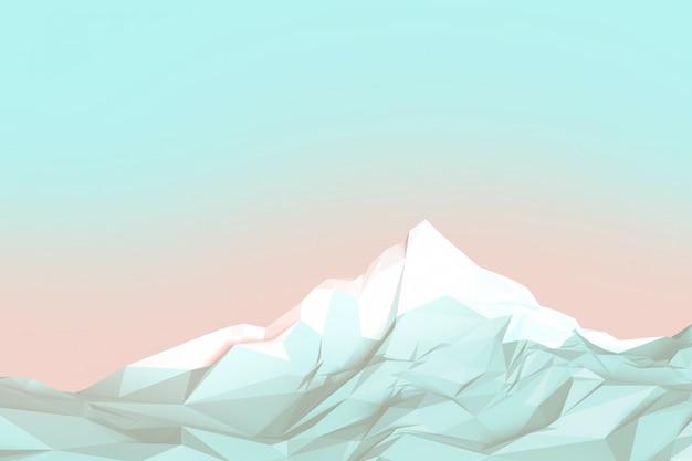 Montañas de baja poli