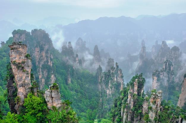 Montañas zhangjiajie, china