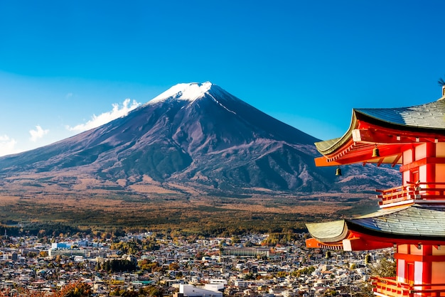 Monte fuji y pagoda