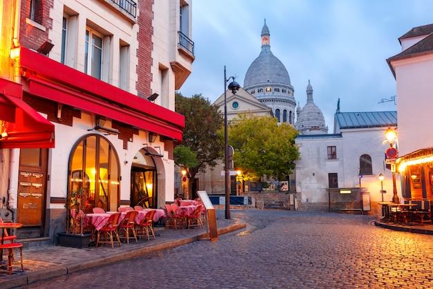 Montmartre en paris, francia