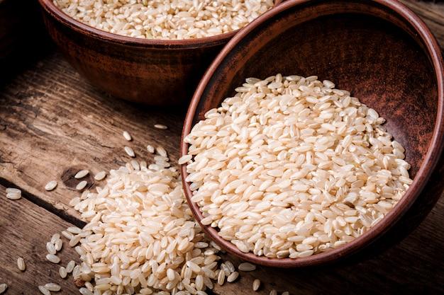 Montón de arroz integral