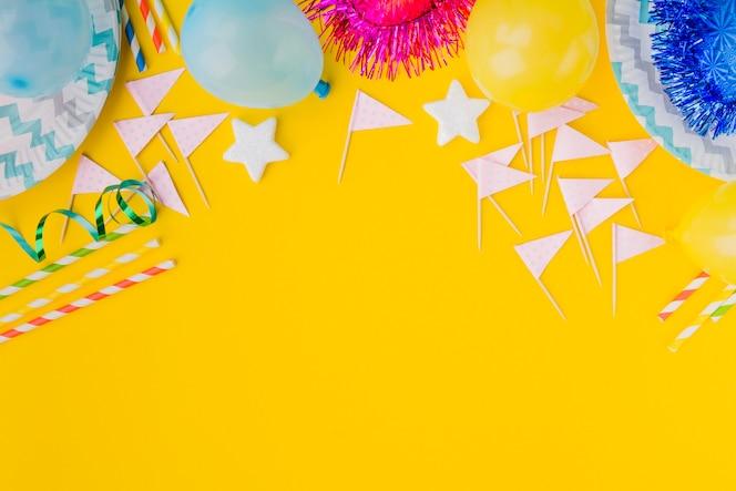 Montón de cosas de cumpleaños