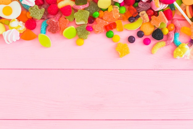 Montón de deliciosos dulces