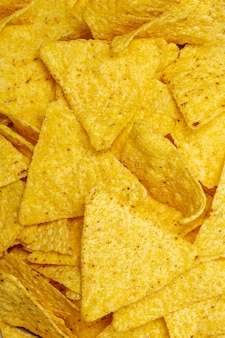 Montón de deliciosos nachos
