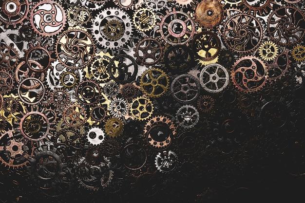 Montón de ruedas dentadas que se establecen