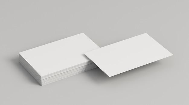 Montones de tarjetas de visita de espacio de copia