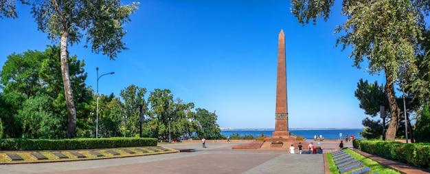 Monumento al marinero desconocido en odessa, ucrania
