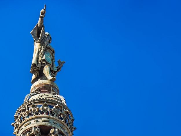 Monumento de cristóbal colón en barcelona, españa