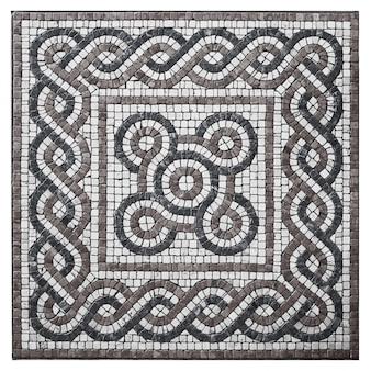 Mosaico de piedra para suelo ornamental.
