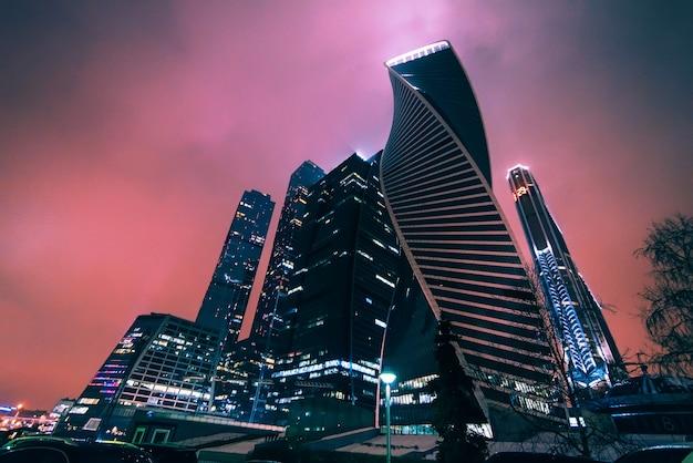 Moscú. centro internacional de negocios de moscú. rusia