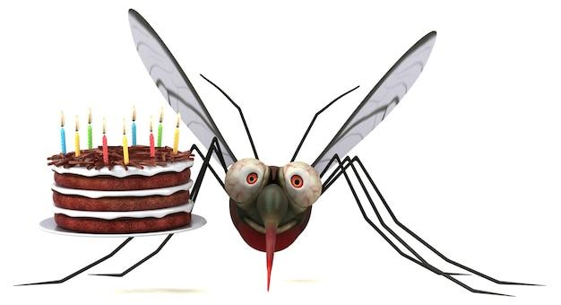 Mosquito - ilustración 3d