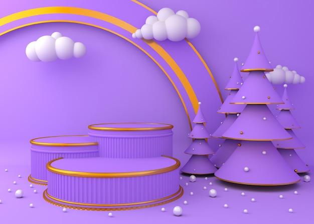 Mostrar fondo para la presentación del producto, árbol de navidad