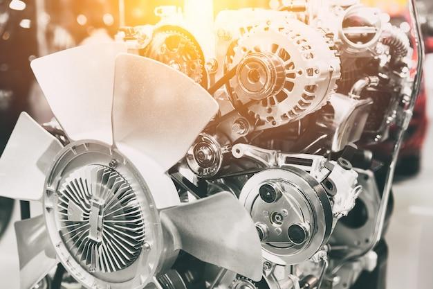 Motor de automóvil moderno tono de color vintage