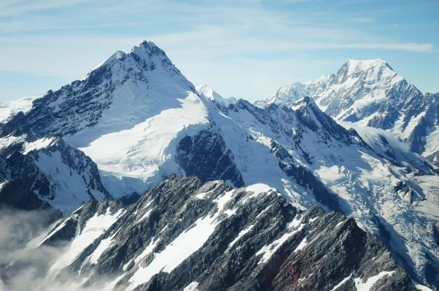 Mount cook parque nacional de foto gratis