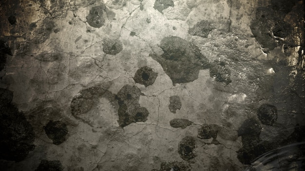 Movimiento de humo y partículas en la pared del grunge, fondo cinematográfico oscuro. ilustración 3d de lujo y elegante del tema del cine.