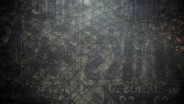 Movimiento de humo y partículas en la pared del grunge, fondo cinematográfico oscuro