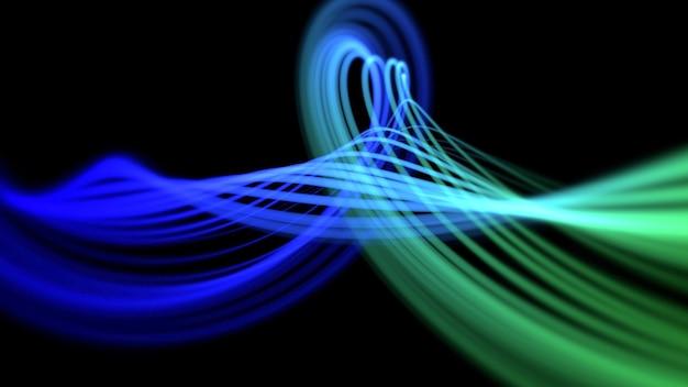 Movimiento de líneas de colores, fondo abstracto. elegante estilo de neón dinámico, ilustración 3d