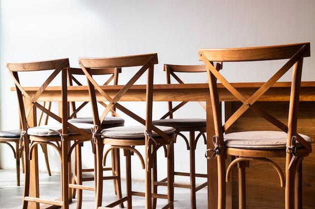 Muebles de cafetería estilo miniaml
