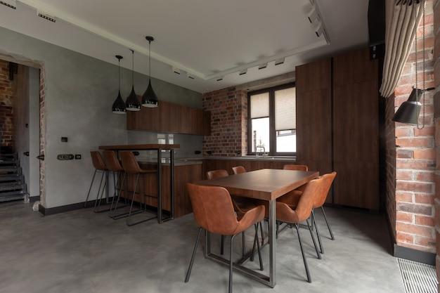 Muebles en comedor moderno y elegante