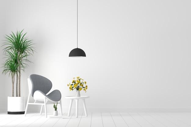 Muebles y decoracion en sala de espera