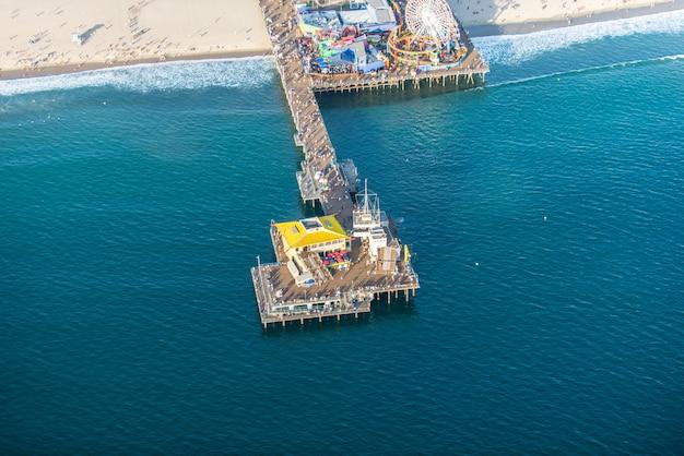 Muelle de santa mónica, vista desde helicóptero