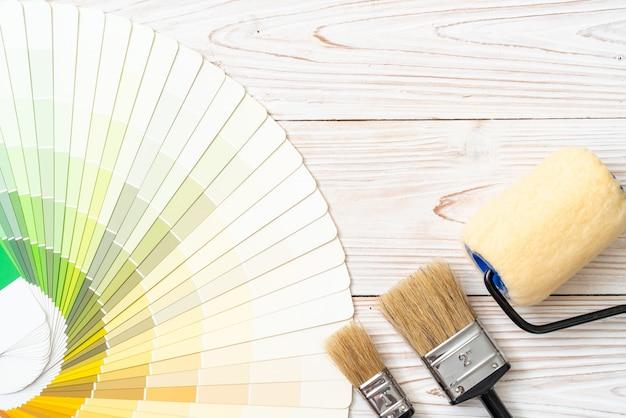 Muestra de catálogo de colores o libro de muestras de colores