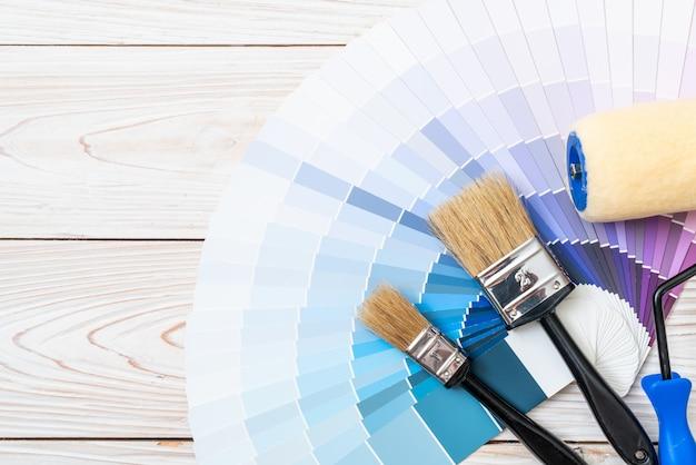 Muestra de catálogo de colores pantone o libro de muestras de color