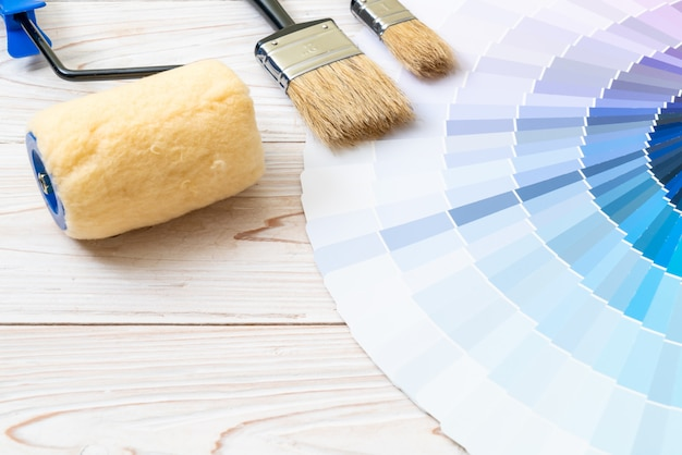Muestra de catálogo de colores pantone o muestras de color