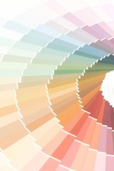 Muestra de catálogo de colores