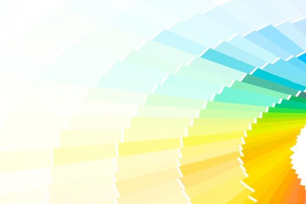 Muestra colores catálogo pantone fondo