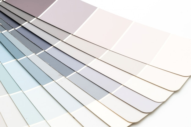 Muestra de colores del catálogo de pantone