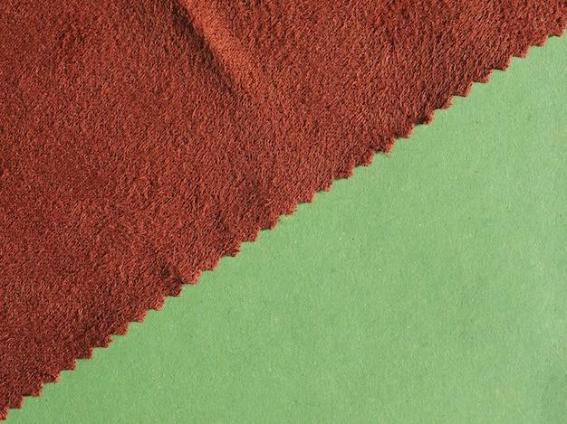 Muestra de muestra de tela marrón
