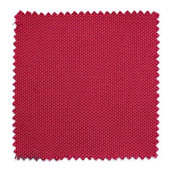 Muestras de tela roja muestras aisladas sobre fondo blanco
