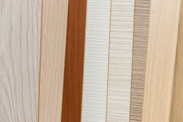 Muestreador de textura de material o interior de diseño de muebles. catálogo de suelos para decoración del hogar