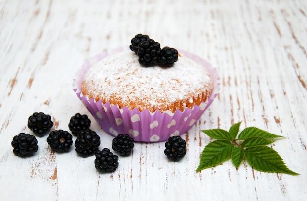 Muffin con mora