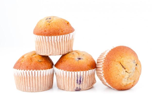 Muffins amontonados juntos